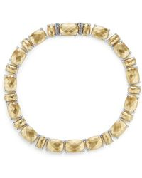 David Yurman - Châtelaine Linear Necklace With Diamonds In 18k Gold - Lyst