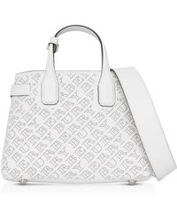 Burberry - The Small Banner Bag In Chalk Calfskin - Lyst