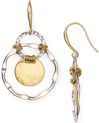 Robert Lee Morris - Two Tone Orbital Earrings - Lyst