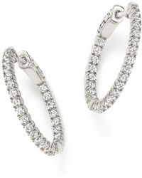 Bloomingdale's - Diamond Inside Out Hoop Earrings In 14k White Gold, 1.0 Ct. T.w. - Lyst