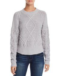 Aqua - Popcorn-knit Sweater - Lyst