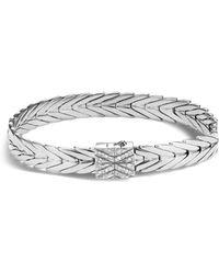 John Hardy | Sterling Silver Modern Chain Bracelet With Diamonds | Lyst