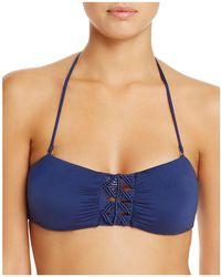 Dolce Vita - Macramé Bandeau Bikini Top - Lyst