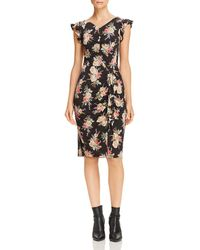 Rebecca Taylor - Bouquet Floral Jersey Dress - Lyst