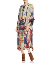 Johnny Was - Winery Printed Silk Caftan Dress - Lyst