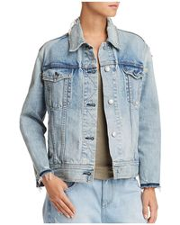 Rag & Bone - Oversized Distressed Denim Jacket - Lyst