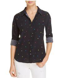 Rails | Kate Star Print Silk Shirt | Lyst