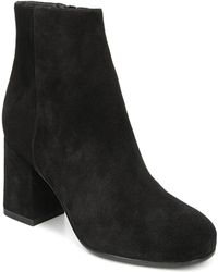 Via Spiga - Women's Maury Suede Block Heel Booties - Lyst