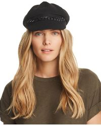 August Hat Company - Chain-trim Newsboy Cap - Lyst