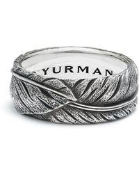 David Yurman - Southwest Narrow Feather Band Ring - Lyst