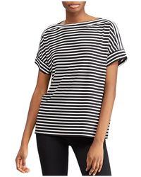 Ralph Lauren - Lauren Dolman Sleeve Stripe Top - Lyst