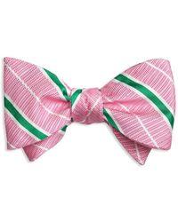 Brooks Brothers - Textured Stripe Self-tie Bow Tie - Lyst