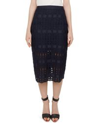 Ted Baker - Aava Lace Pencil Skirt - Lyst