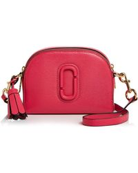 d8ed15f4ed36 Lyst - Marc Jacobs Shutter Leather Half Moon Crossbody Bag in Natural