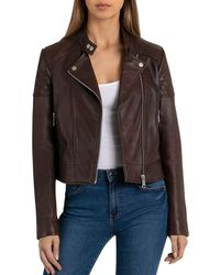BAGATELLE.NYC - Quilted Leather Moto Jacket - Lyst