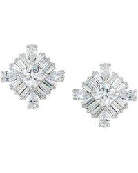 Carolee - Square Stud Earrings - Lyst