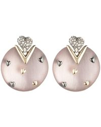 Alexis Bittar - Heart Studded Drop Earrings - Lyst