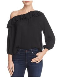 Ella Moss | Stella Ruffled Slip-shoulder Top | Lyst