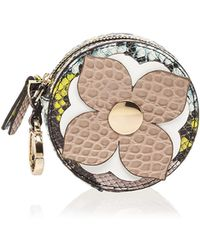 Etienne Aigner - Round Leather Coin Case - Lyst