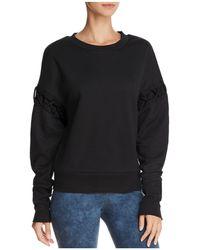 Alo Yoga - Hookup Lace-up Sweatshirt - Lyst