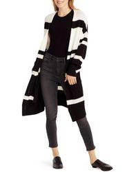 Ella Moss - Kimberly Color - Blocked Long - Line Cardigan - Lyst
