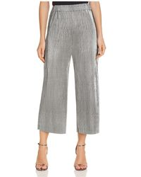 Likely - Olivia Cropped Wide-leg Metallic Trousers - Lyst