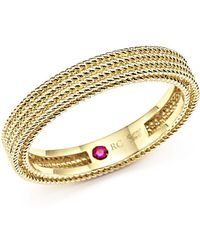 Roberto Coin - 18k Yellow Gold Symphony Braided Ring - Lyst