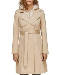 SOIA & KYO - Athie Water Repellent Coat With Removable Hood And Bib In Almond - Lyst