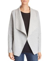 Majestic Filatures - Ribbed Open-front Cardigan - Lyst