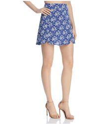 For Love & Lemons - Zamira Floral-print Mini Skirt - Lyst