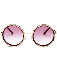 Dolce & Gabbana - Dolce & Gabbana Women's Round Sunglasses, 53mm - Lyst