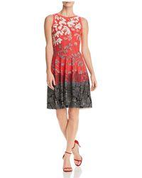 NIC+ZOE - Nic+zoe Terrace Twirl Printed Dress - Lyst
