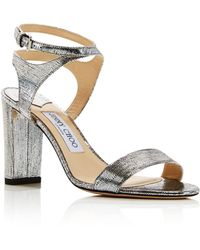 2167c3b4188 Jimmy Choo - Women s Marine Leather High-heel Sandals - Lyst