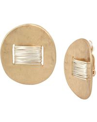 Robert Lee Morris - Two-tone Wire Wrap Clip-on Earrings - Lyst