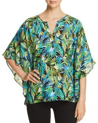 Status By Chenault - Tropical-print Poncho Top - Lyst