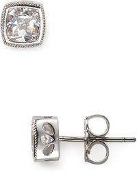 Nadri | Cushion Cut Stud Earrings | Lyst