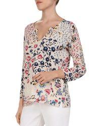 e1b8628abf3 Gerard Darel - Jana Floral-print Sweater - Lyst