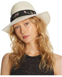 Aqua - Embroidered-trim Panama Hat - Lyst