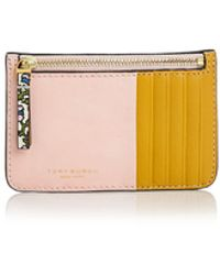 Tory Burch - Color-block Top-zip Leather Card Case - Lyst