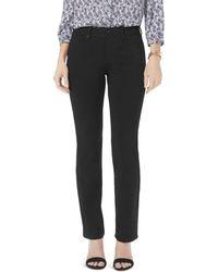 NYDJ - Petites Marilyn Straight Jeans In Black - Lyst
