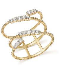 Bloomingdale's - Diamond Beaded Swirl Ring In 14k Yellow Gold, .45 Ct. T.w. - Lyst