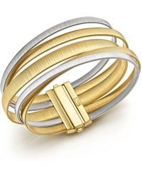 Marco Bicego - 18k White & Yellow Gold Masai Five Strand Crossover Bracelet - Lyst