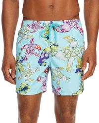 925faec690 Vilebrequin Classic Swim Trunks Turtle in Blue for Men - Lyst