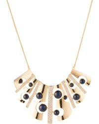 """Trina Turk - 17"""" Cut-out Bib Necklace With Pave - Lyst"""