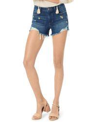 Joe's Jeans - Daisy - Detail Cutoff Denim Shorts In Jasmin - Lyst