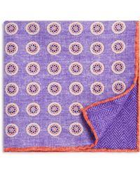 Bloomingdale's - Circle Medallion/herringbone Pocket Square - Lyst