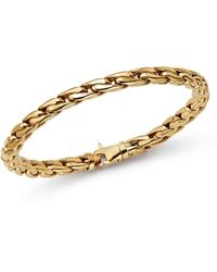 Bloomingdale's - Polished Curb Link Bracelet In 14k Yellow Gold - Lyst