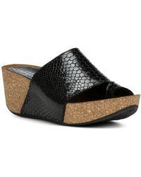Donald J Pliner - Women's Ginie Embossed Leather Platform Wedge Sandals - Lyst