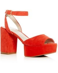 Kenneth Cole - Women's Phoenix Suede High Block Heel Platform Sandals - Lyst