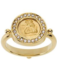 Temple St. Clair - 18k Yellow Gold Angel Ring With Pavé Diamonds - Lyst